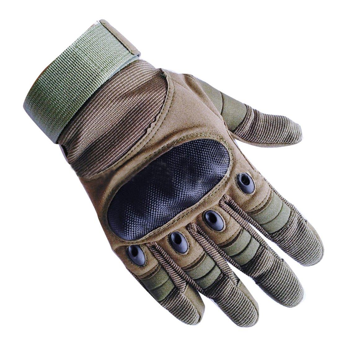 アップグレードメンズフルフィンガータクティカルミリタリーオートバイサイクリンググローブ登山ハイキングハンティングアウトドアスポーツスマート手袋をHi Suyi B075H8C73C アーミーグリーン X-Large X-Large|アーミーグリーン