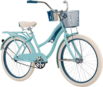 "Huffy 26/"" Nel Lusso Women/'s Classic Cruiser Bike Light Blue"