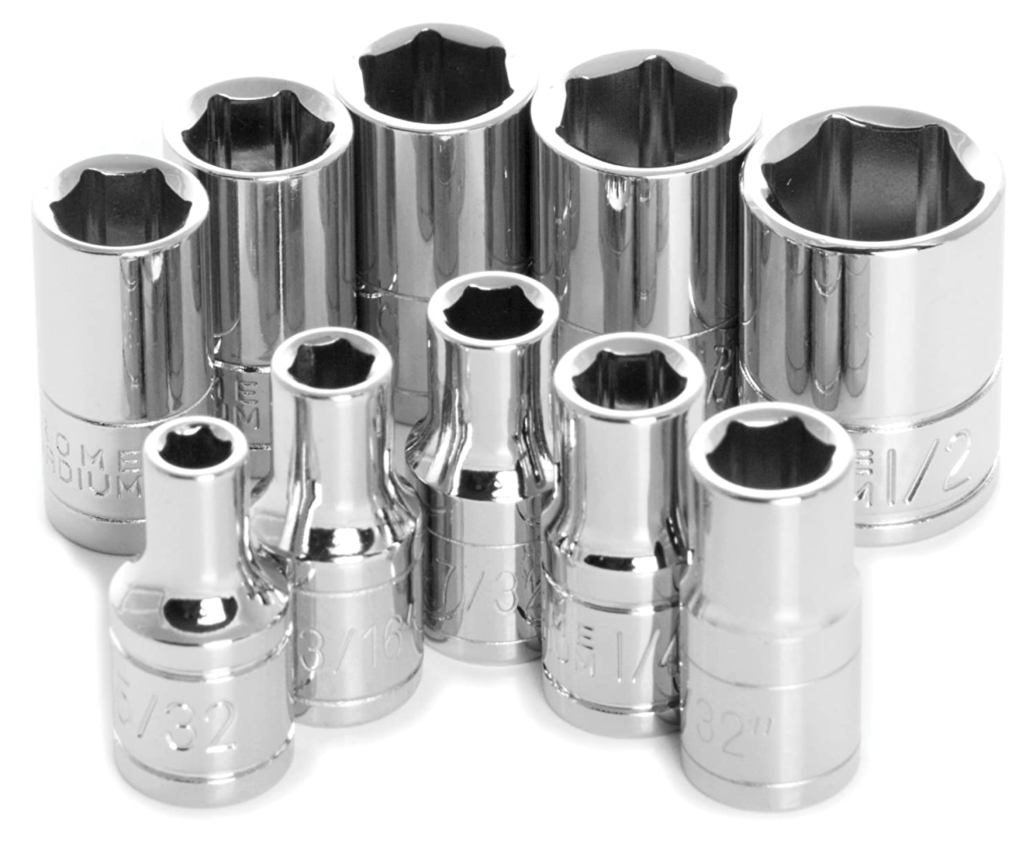 Performance Tool W36300 1 4 Drive 6 Point Sae Deep Socket Set 10