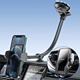 """[2021 Upgraded] Car Phone Holder Mount, 13"""" Gooseneck Cell Phone Holder for Car with Strong Suction Cup, Hands Free Dash Wind"""