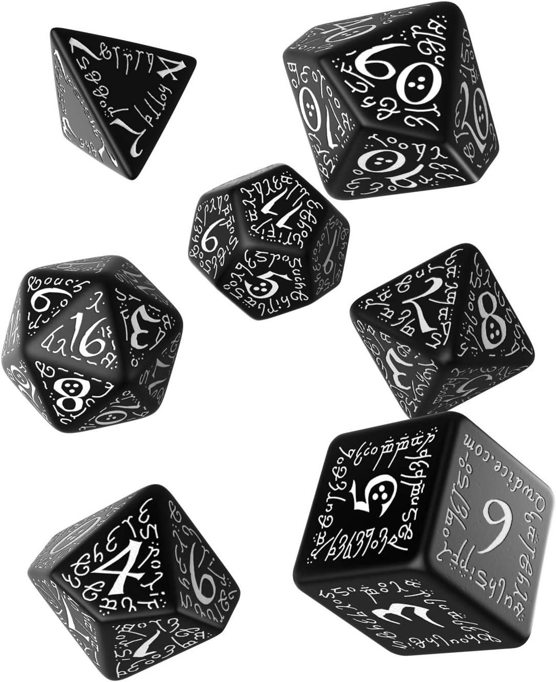 Schwarz Weiß Elfen Würfel Set Amazon De Spielzeug