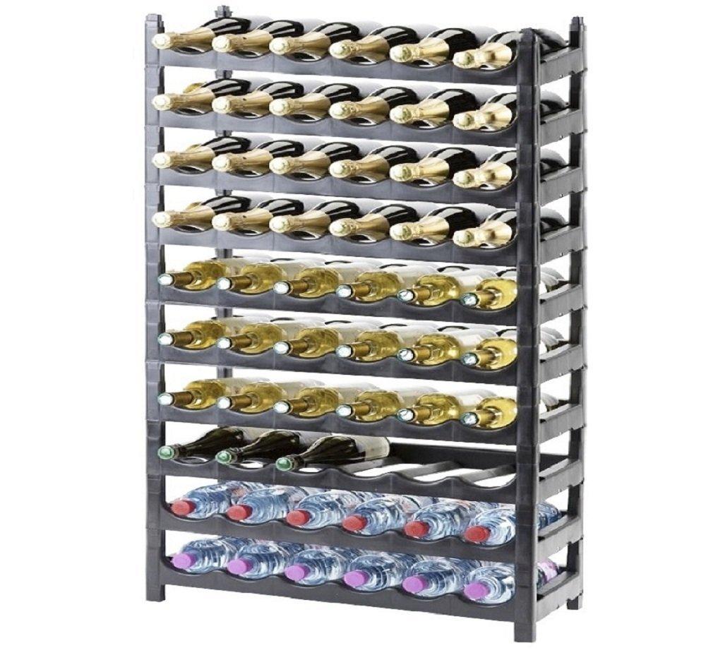 Étagère à bouteille/support bouteille modulable plastique 60 bouteilles cave à vin francky-shop