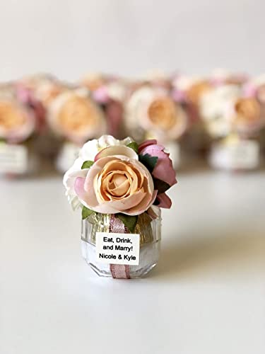 Napkin Rings FREE Shipping and Priority WEDDING ANNIVERSARY /& More 25 Plus Tile Favors With Custom Phrases 2x2 Gift Favors Ornaments