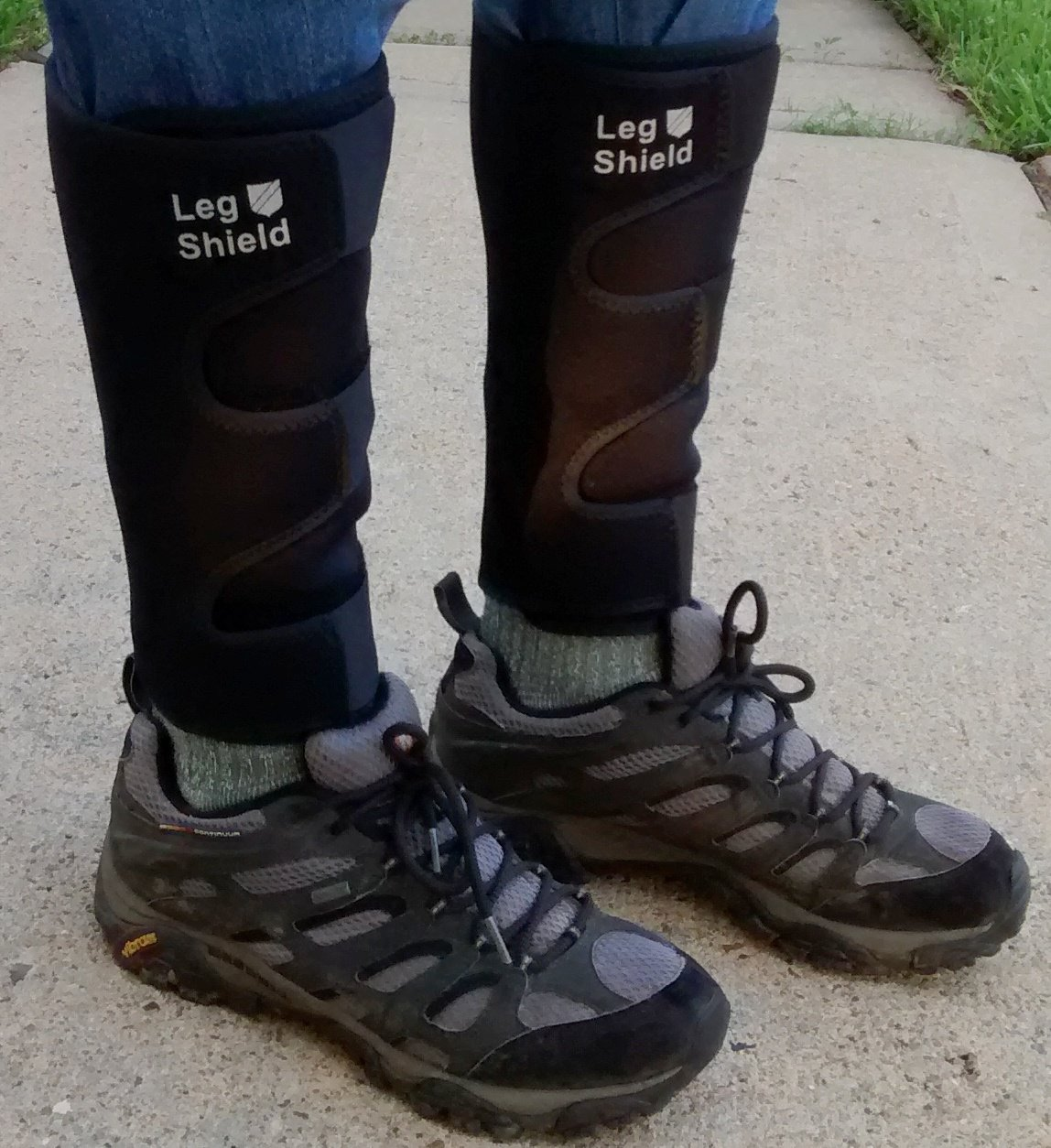 Neoprene Leg Gaiters (Pair) - Unique Hook and Loop Fastener Design for Easy On/Off - For Outdoors, Hunting, Hiking, Walking, and General Shin/Calf Protection - Windproof, Water Resistant, Snug Fit by Leg Shield (Image #2)