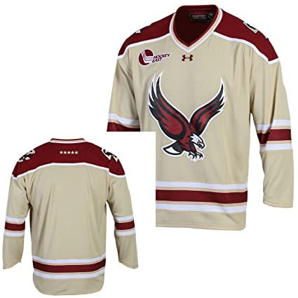 7e3d4cb4a Image Unavailable. Image not available for. Color  Under Armour Boston  College Eagles NCAA Men s Replica Hockey Jersey ...