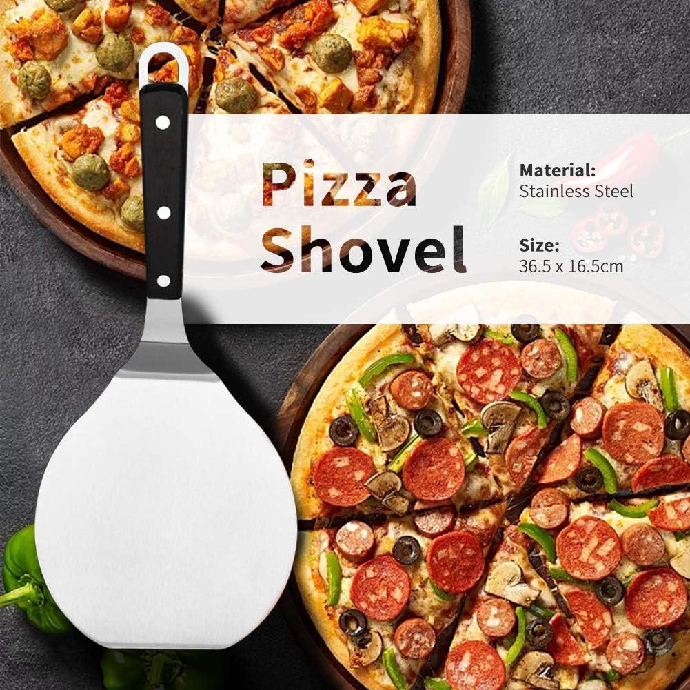 Pizza Paddel-Kuchenschaufel 3dsll0 Pizzaschieber zum Backen auf Pizzastein Edelstahl Paddel-Kuchenheber Backwerkzeuge mit Griff f/ür Kuchen Ofen und Grill Free Size 36.5 x 16.5cm