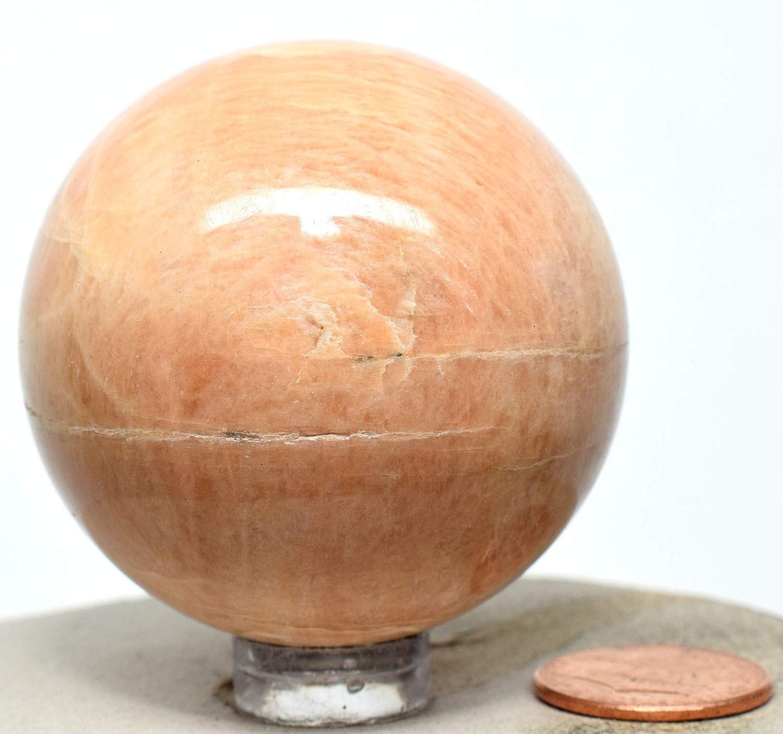 44 MM Rare Peach Moonstone Sphere Gemstone,Mineral Specimen,Polished Sphere Peach Moonstone Ball Healing Crystal Sphere