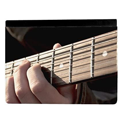 Persona tocando guitarra eléctrica mástil Junta Apple iPad Pro 9.7 Inch Funda de piel funda para