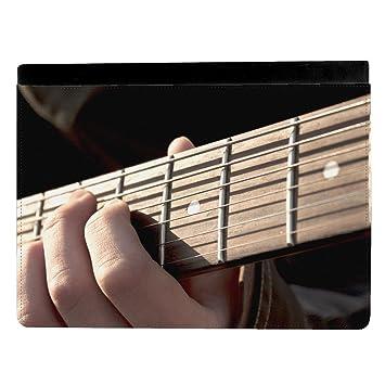 Persona tocando guitarra eléctrica mástil Junta Apple iPad Pro 9.7 Inch Funda de piel funda para tablet: Amazon.es: Electrónica