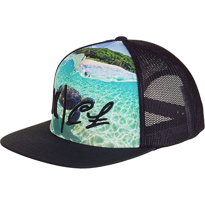 finest selection dde84 f0e20 Hurley Clark Little Honu Trucker Hat Black, One Size