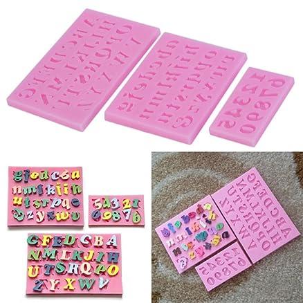 Lettera Alfabeto + Numeri silicone stampi torta decorazione ...