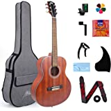 AKLOT Classical Acoustic Guitar, Travel Acoustic Guitar with Classical String 38 inch Mahogany w/Gig Bag Tuner Strap…