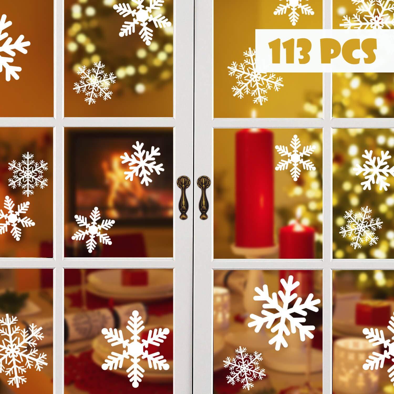 Blooven Schneeflocken Fensterbild für Winter und Weihnachten ...
