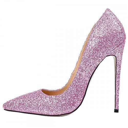 7dcc310cec Patrc Womens Shoes High Heels 12Cm High Heels Shoes Glittering Pumps Women  Heels Sexy Pointed Toe