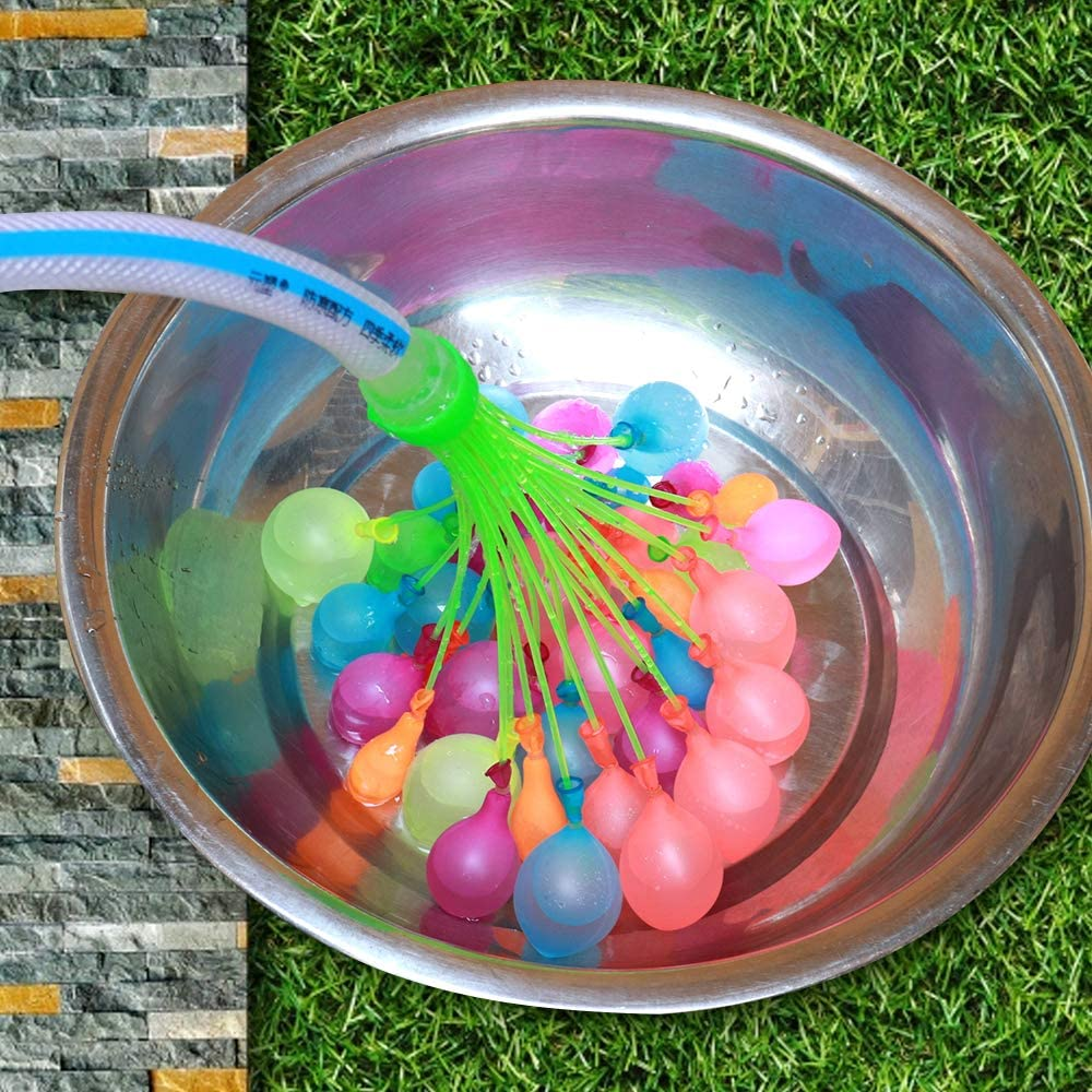 500 refills for a total of 611 Instant material is recyclable. Water Balloons For Kids The most economical option .111Water balloon quick fill self sealing