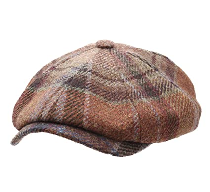 49185df26 Stetson Men's Virgin Wool Check Flat Cap at Amazon Men's Clothing store:
