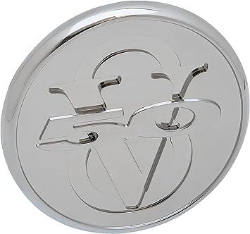 Defenderworx 98439 Gloss White 13 Oval Billet Grille Emblem for Ford