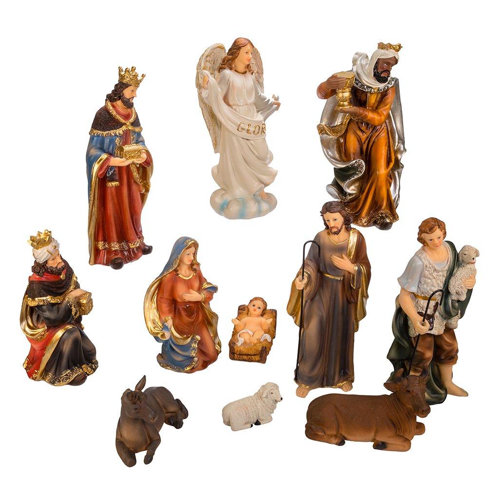 Kurt S. Adler 8.5'' Nativity Table Piece Set (Set of 11), 11