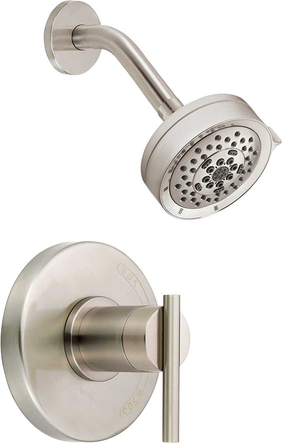 Danze D510558BNT Parma Single Handle Shower Trim Kit with 5-Function Showerhead, Brushed Nickel