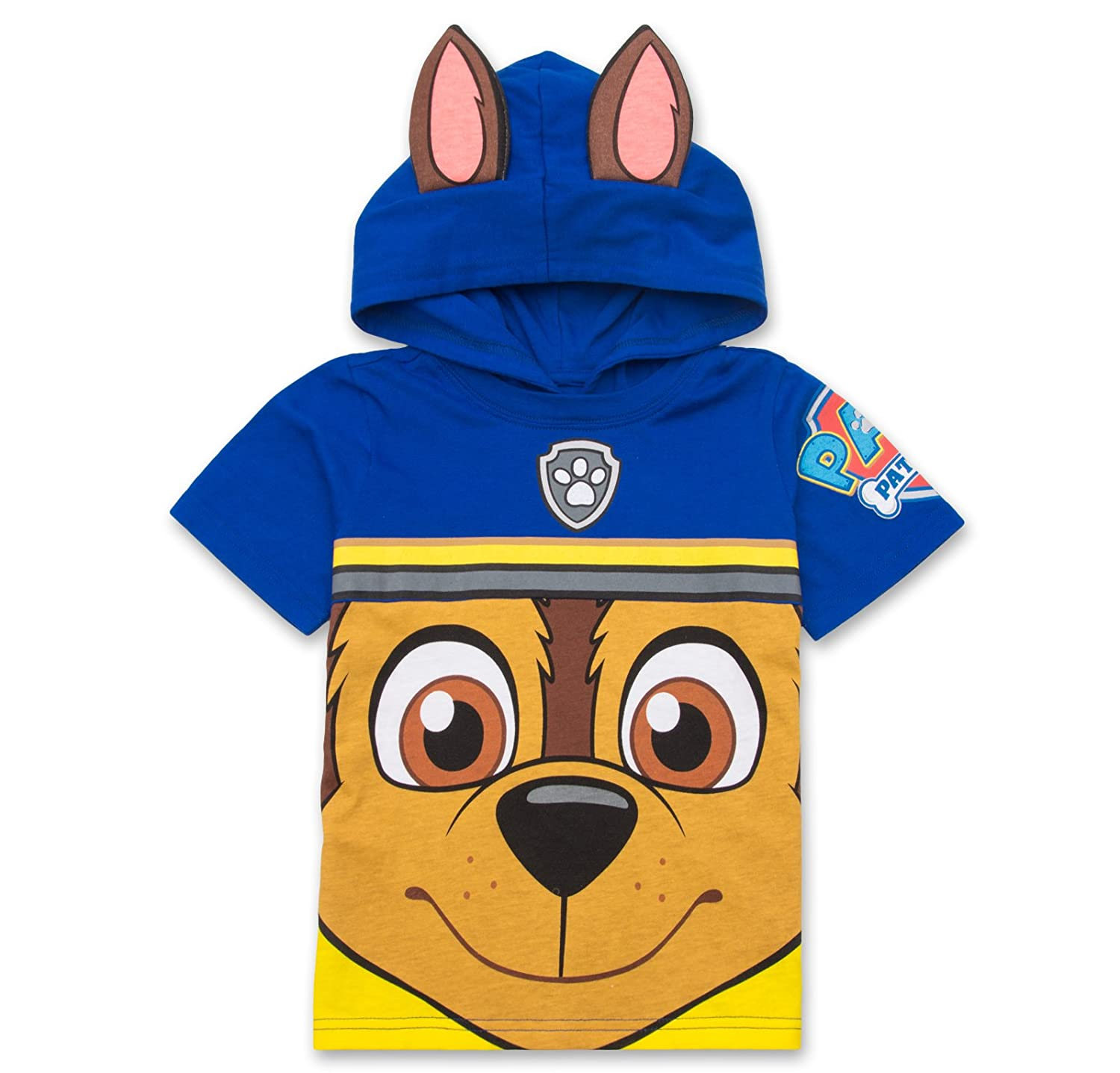 8b746be648 FAVORITE CHARACTERS: Collect hooded shirts of PAW Patrol stars Chase,  Marshall, Rocky, Rubble & Zuma ✓ BIG FACES: Each Nickelodeon rescue dog  t-shirt leaps ...