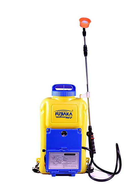 Fujiaka NEO Compact Knapsack Battery Operated Agricultural Sprayer-Plastic-12 litres (Yellow and Blue)