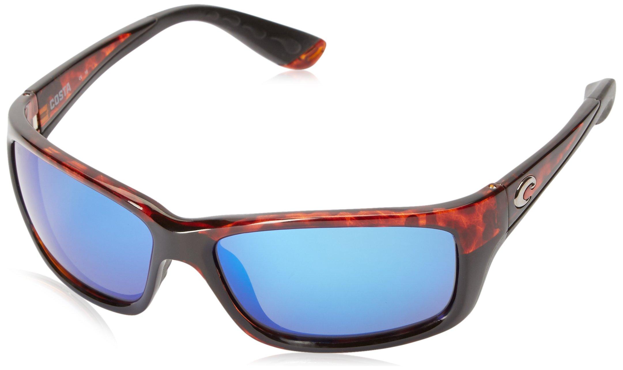 Costa Del Mar Jose Sunglasses, Tortoise, Blue Mirror 580 Glass Lens by Costa Del Mar
