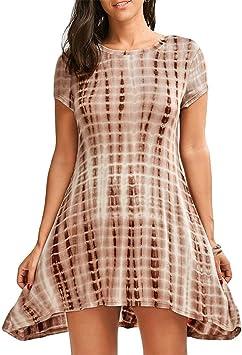 kesee vestidos para mujer manga corta camiseta de tirantes vestido ...