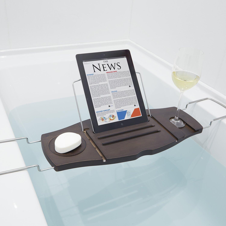 Umbra Aquala Bathtub Caddy Walnut: Amazon.co.uk: Kitchen & Home
