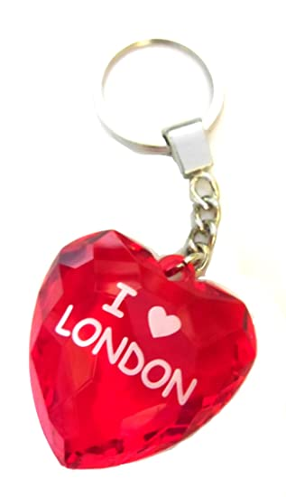 Amazon.com: I Love London llavero en color rojo/rojo de ...