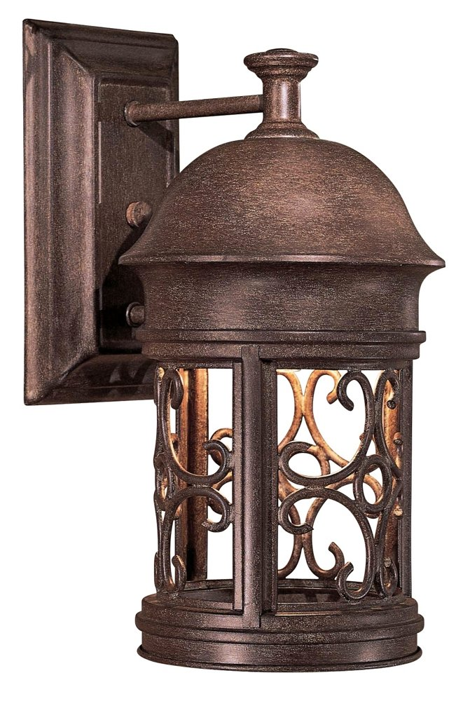 Minka Lavery 8281-A61 1 Light Outdoor Wall Mount, Vintage Rust Finish