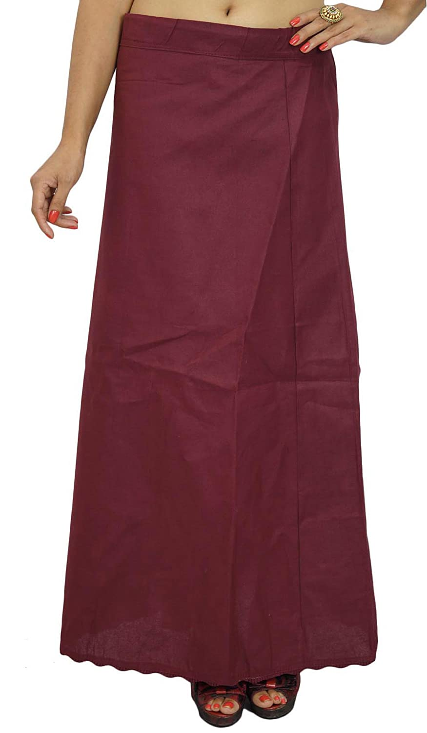 Bollywood Cotton Solid Petticoat Underskirt Indian Lining For Sari ibaexports PTC64A