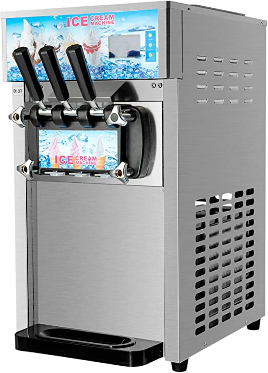 Eismaschine Softeismaschine Eiscreme Frozen Maschine Speiseeismaschine 18L//h