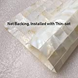 Art3d Mother of Pearl Oyster White Mini Square