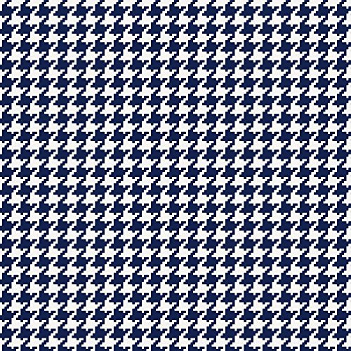 Carousel Designs Navy Houndstooth Fabric by The Yard - Organic 100% Cotton