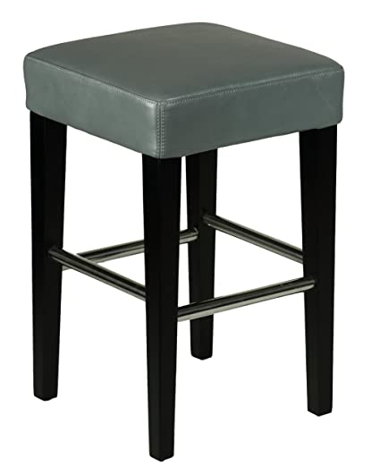 Swell Cortesi Home Viking Counter Stool In Genuine Leather With Black Legs Steel Grey Lamtechconsult Wood Chair Design Ideas Lamtechconsultcom