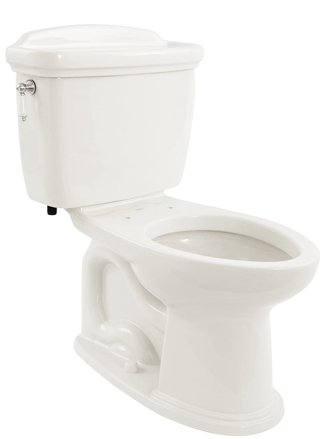 TOTO CSTSF Dartmouth Piece Elongated Toilet Cotton White - Elongated bowl toilet dimensions