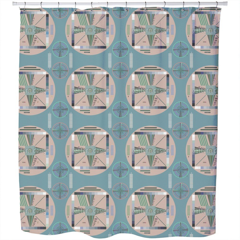 Uneekee Stay Tuned Shower Curtain: Large Waterproof Luxurious Bathroom Design Woven Fabric