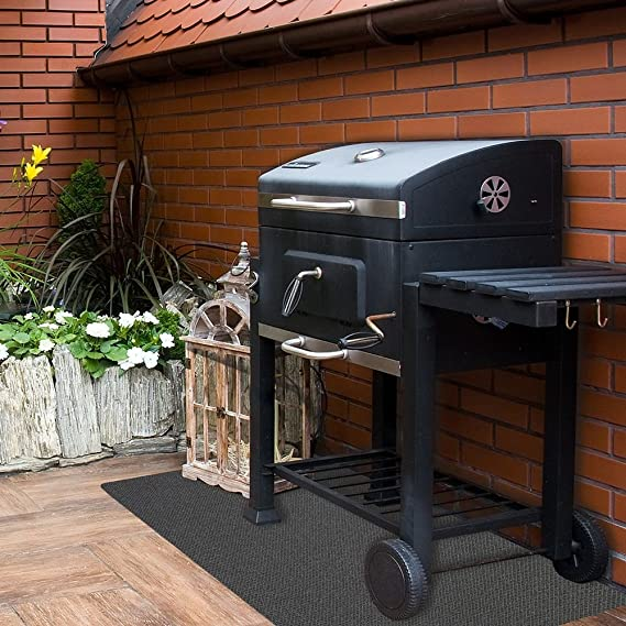 Barbacoa Alfombrilla BBQ Barbacoa Unterlage 120 x 100 cm uni Antracita: Amazon.es: Jardín