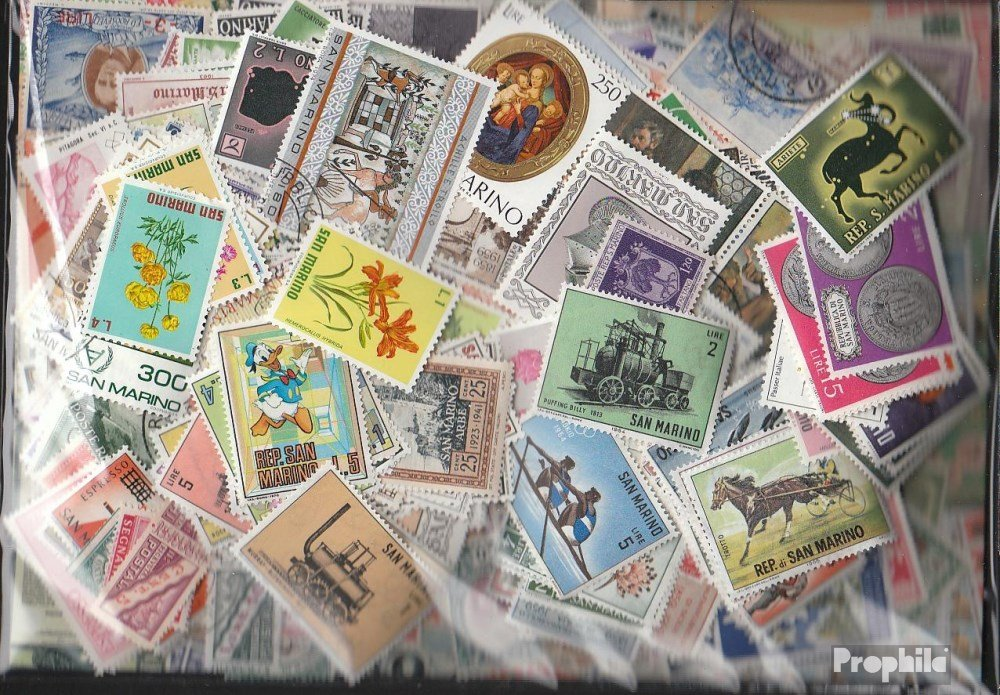 Prophila Collection San Marino 1.500 Verschiedene Marken Marken Verschiedene (Briefmarken für Sammler) 2cb453
