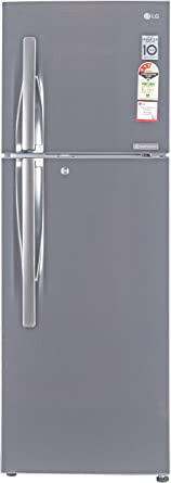 LG 255 L 3 Star Frost Free Double Door Refrigerator(GL-Q282RPZY, Shiny Steel, Inverter Compressor)