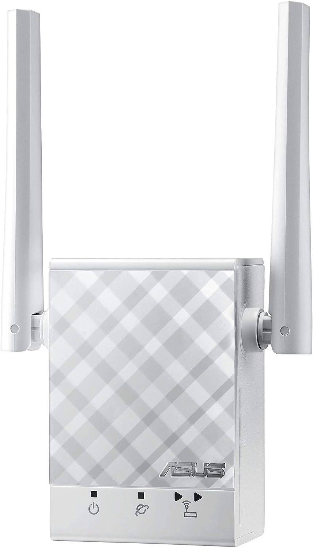 ASUS RP-AC51- Repetidor Extensor de Red WiFi AC750 Doble Banda (Puerto LAN, Modo Punto Acceso, indicador LED señal)