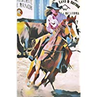 Image for Barrel Racing Turn and Burn Blank Lined Journal Notebook: A notebook, daily diary, gift idea for folks who are fans of and or participate in barrel racing!!