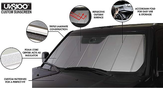 Laminate Material 1 Pack Covercraft UV11469SV Silver UVS 100 Custom Fit Sunscreen for Select Mercedes-Benz GLC300//GLC43 AMG Models