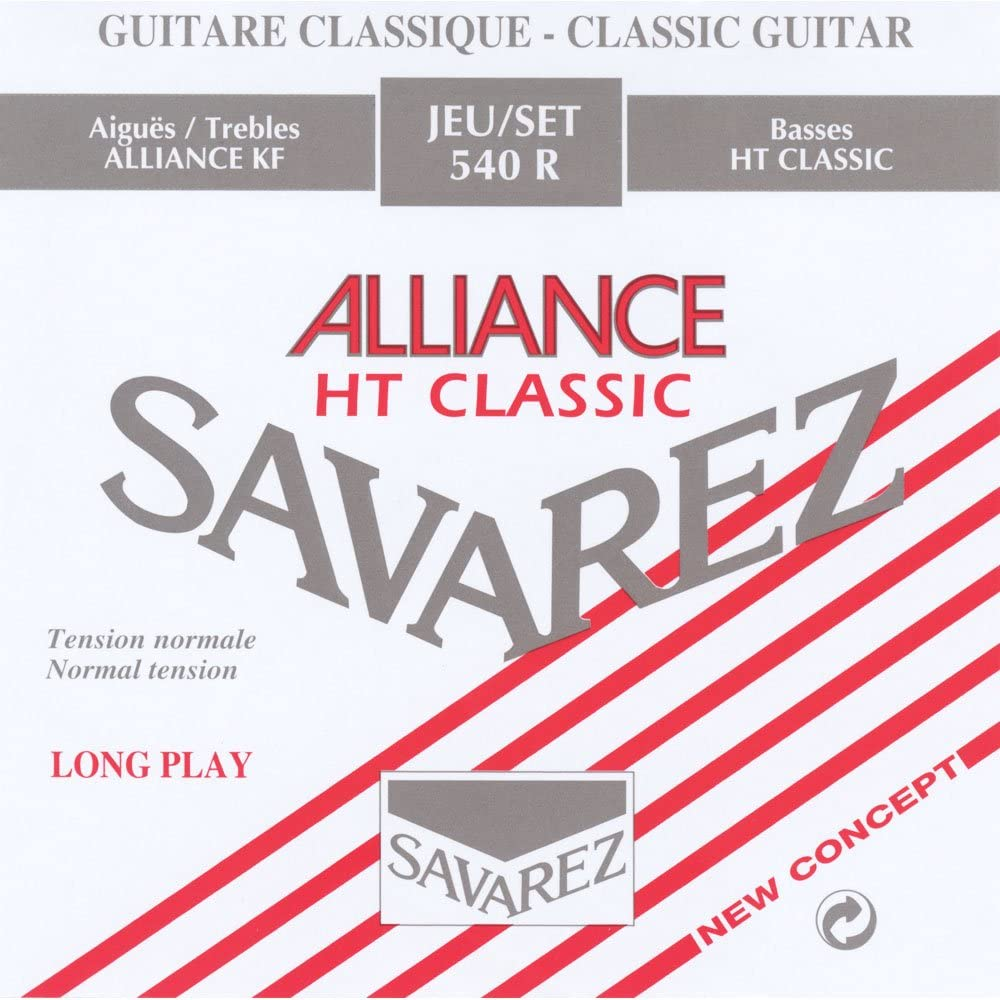 Savarez 655917 - Cuerdas para Guitarra Clásica Alliance HT Classic 540R Juego Tensión Estandar, Rojo