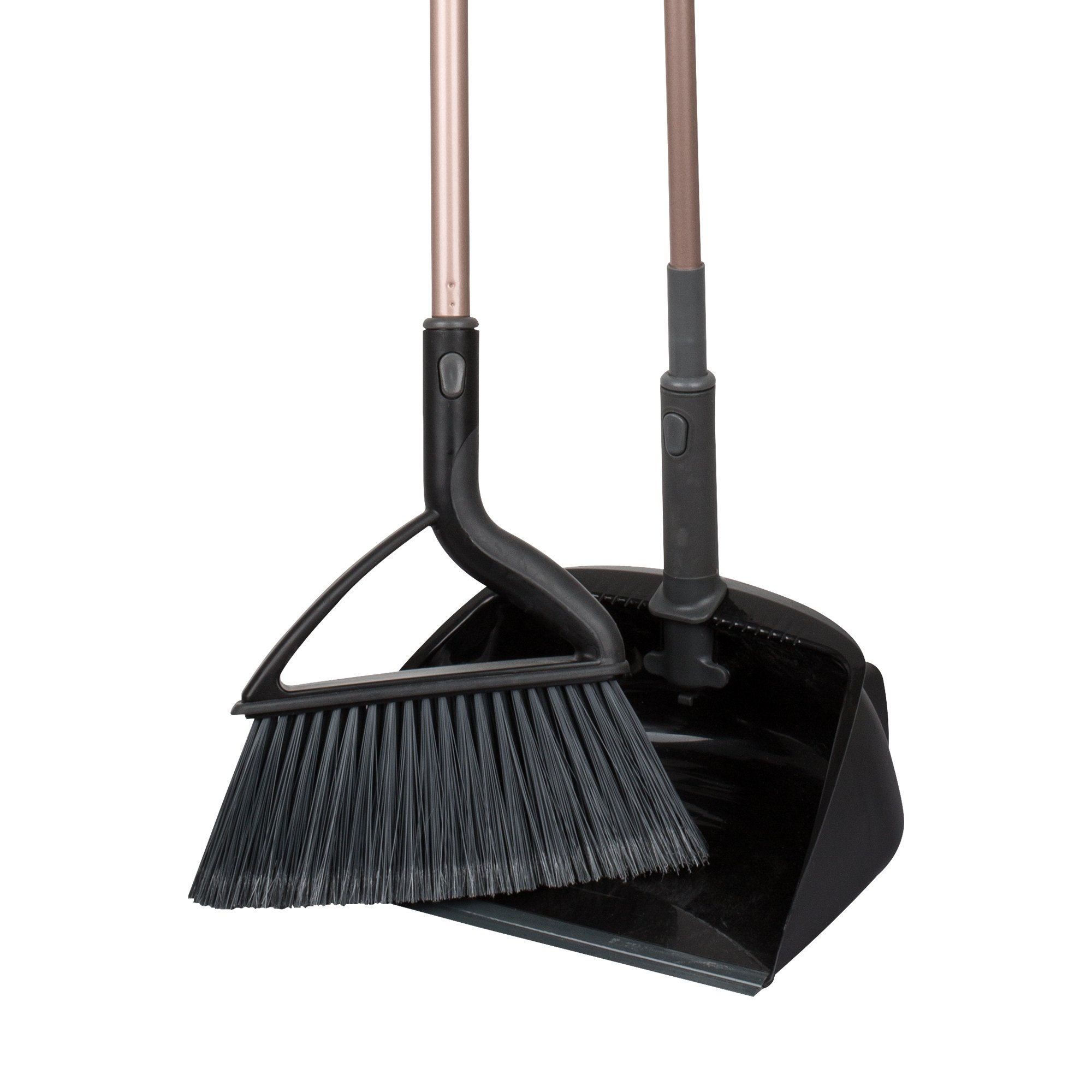 Casabella Quick N Easy Upright Sweep Set, Rose Gold