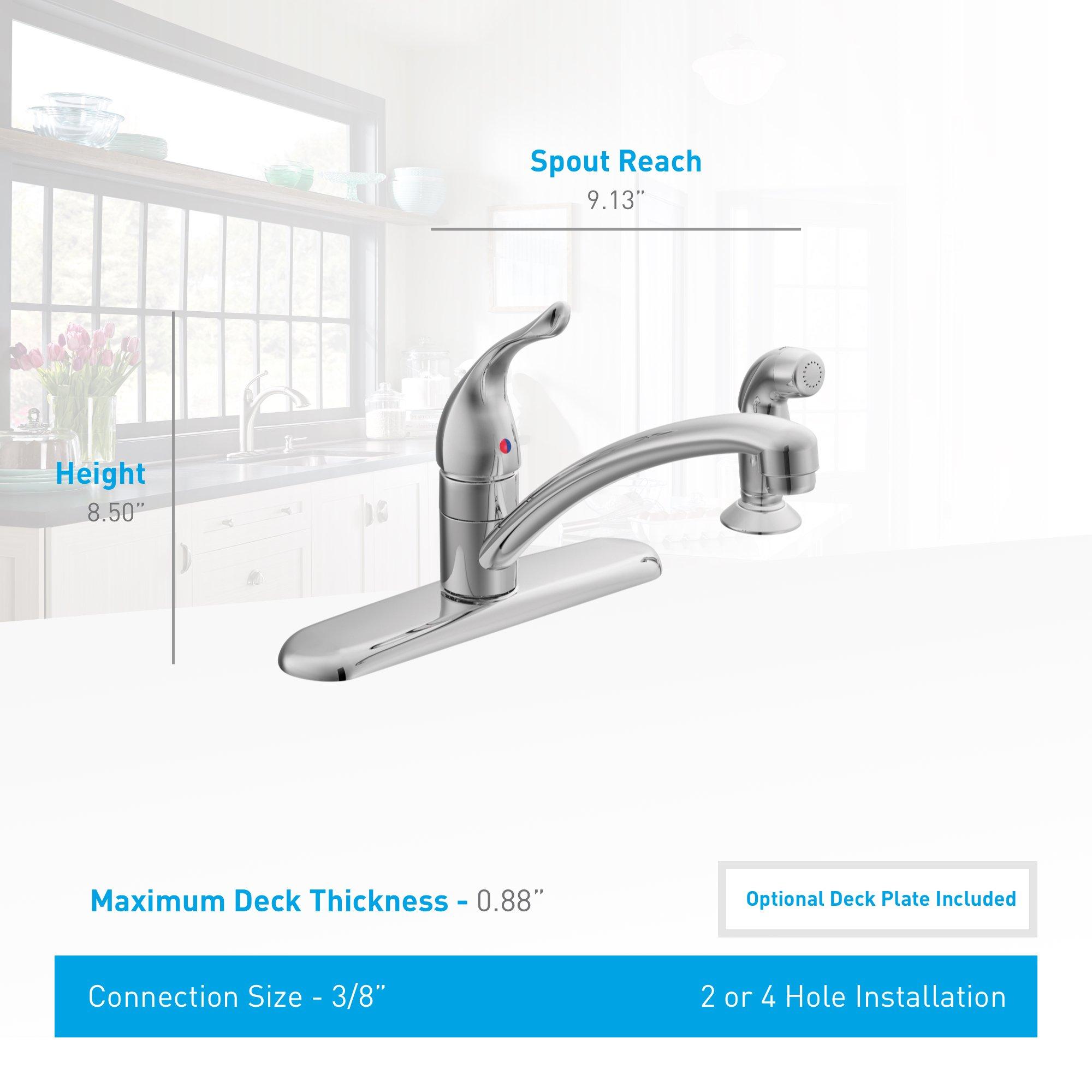 Moen 7430 Chateau One-Handle Low-Arc Kitchen Faucet, Chrome by Moen