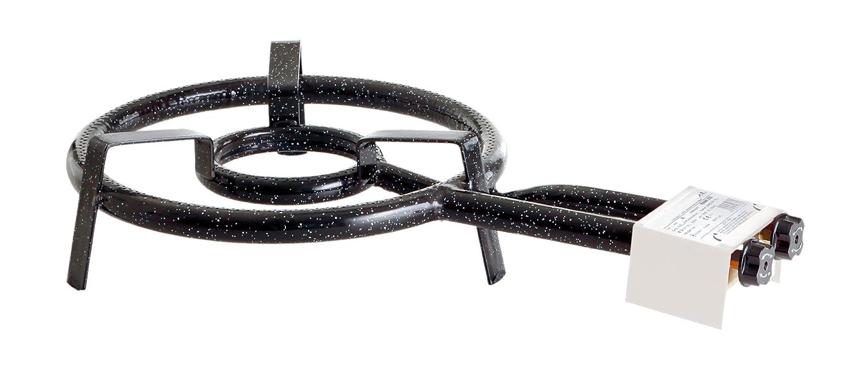 Paella World International Paella-Gasringbrenner, 2-Ring, Schwarz, Ø 35 cm