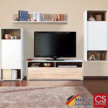 Wohnwand Anbauwand Schrankwand Wohnzimmerschrank Mediawand Modern CS Schmal Made In Germany
