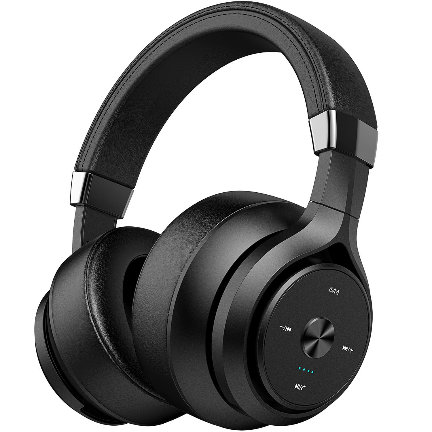 Picun Dual Driver 40 Hours Wireless Headphones Over Ear, EQ Deep Bass HiFi  Stereo Bluetooth Headphones with HD Mic, Battery Indicator, Soft Protein