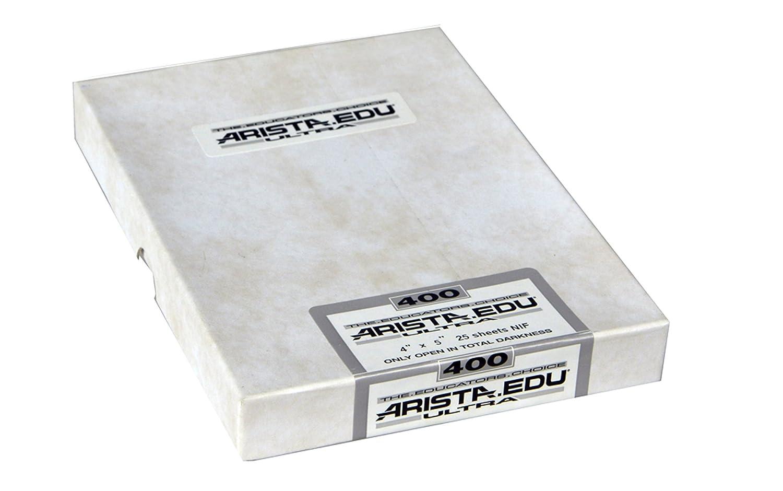 2.25x3.25 50 Sheets Arista EDU Ultra 400 ISO Black /& White Film